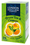 LONDON FRUIT & HERB Green Tea-Sp.Orange  ( minimální trvanlivost 6 / 2018 )