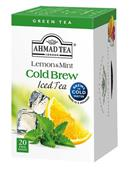 AHMAD TEA - COLD BREW studený čaj  Green Lemon & Mint  20x2g